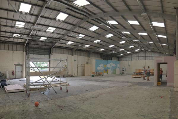 Empty space - waiting for a new climbing wall