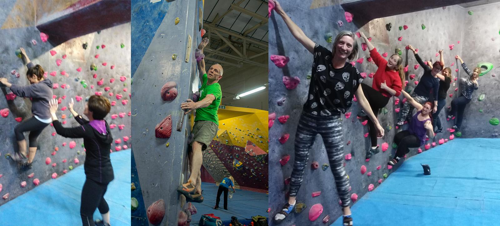 Squad parents climbing